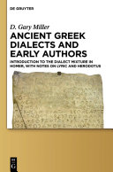 Ancient Greek Dialects and Early Authors