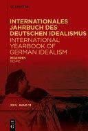 International Yearbook of German Idealism
