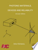 Photonic Materials  Devices and Reliability Book