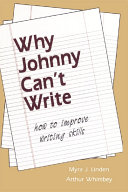Why Johnny Can t Write