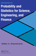 Introduction to Probability and Statistics for Science, Engineering, and Finance Pdf/ePub eBook