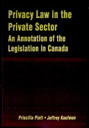 Privacy Law in the Private Sector