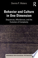 Behavior and Culture in One Dimension
