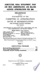 108-1 Hearings: Agriculture, Rural Development, Food and Drug Administration, Etc., Part 5, 2003, *