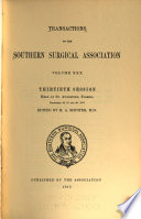 Transactions of the Southern Surgical Association
