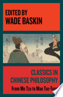 Classics in Chinese Philosophy