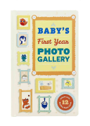 Baby's First Year Photo Gallery:Album with 12 Monthly Photo Cards
