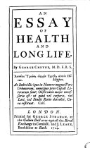 An Essay of Health and Long Life