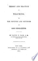 Theory and Practice of Teaching  Or  The Motives and Methods of Good School seeping