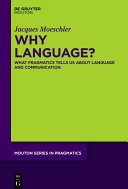 Pdf Why Language? Telecharger