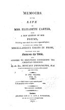 Memoirs of the Life of Mrs  Elizabeth Carter  Memoirs of the life of Mrs  Elizabeth Carter