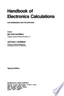 Handbook of electronics calculations for engineers and technicians