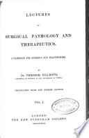 Lectures on Surgical Pathology and Therapeutics Book
