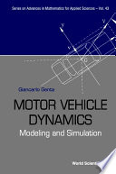 Motor Vehicle Dynamics  Modeling and Simulation Book