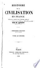 Histoire de la civilisation en France depuis la chute de l'Empire romain
