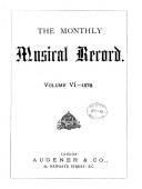 Pdf The Monthly Musical Record