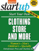 Start Your Own Clothing Store And More  Children s  Bridal  Vintage  Consignment Book