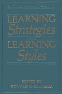 Learning Strategies and Learning Styles