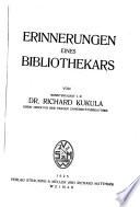 Erinnerungen eines Bibliothekars