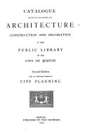 Catalogue of Books Relating to Architecture, Construction & Decoration