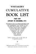 Whitaker's Cumulative Book List Pdf/ePub eBook