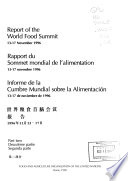 Informe de la Cumbre Mundial Sobre la Alimentación