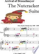 Arrival of Drosselmeyer the Nutcracker Suite Beginner Piano Sheet Music with Colored Notes