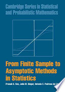 From Finite Sample To Asymptotic Methods In Statistics Book PDF