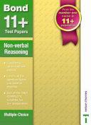 Bond 11+ Test Papers Non-Verbal Reasoning