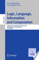 Logic  Language  Information  and Computation