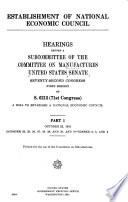 Establishment of National Economic Council