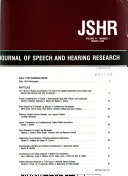 Journal of Speech and Hearing Research
