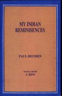 My Indian Reminisences [sic]