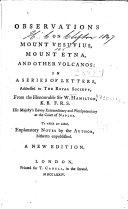 Pdf Observations on Mount Vesuvius, Mount Etna, and Other Volcanos