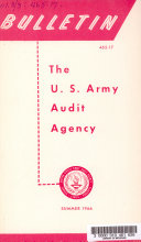 U S  Army Audit Agency Bulletin