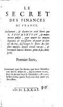 Le Secret Des Finances De France
