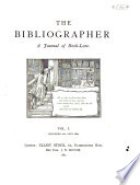 The Bibliographer A Journal Of Book Lore