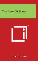 The Book of Hosea Book