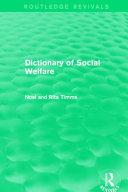 Dictionary of Social Welfare Book
