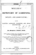 Miller's Dictionary of Gardening, Botany, and Agriculture ebook