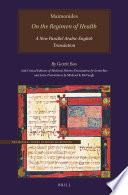 Maimonides  On the Regimen of Health Book PDF