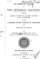 An Elementary Treatise on the Integral Calculus Book