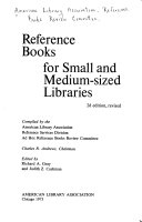 Reference Books for Small and Medium sized Libraries