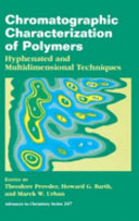 Chromatographic Characterization of Polymers Book