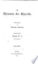 Die Hymnen des Rigveda: T. Mandala VII-X. Nebst Beigaben