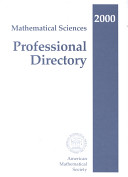 Mathematical Sciences Professional Directory, 2000