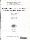 Kinetic Data on Gas Phase Unimolecular Reactions