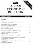 ASEAN Economic Bulletin Book