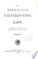 The American and English Encyclopædia of Law: Replevy to Separate
