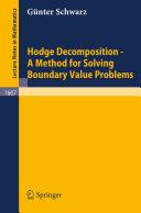 Hodge Decomposition - A Method for Solving Boundary Value Problems [Pdf/ePub] eBook